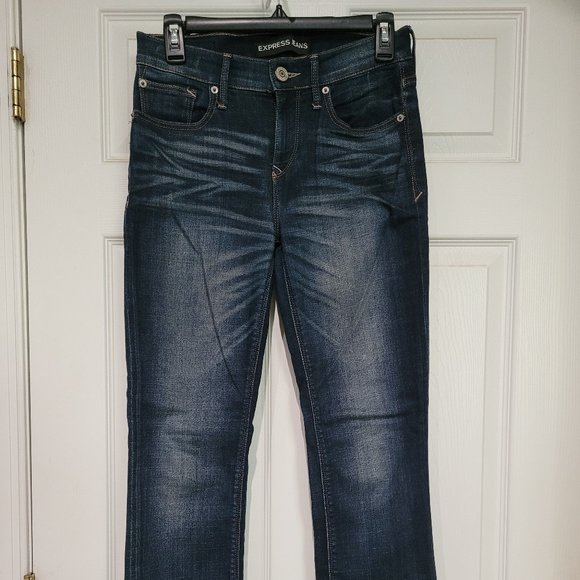 Express Mid Rise Skinny Jeans